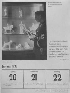 фото в календаре СС 1939 года [Задача искусства – быть выражением и определять дух времени. Кровь и Раса будут снова источником художественной интуиции]