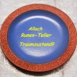 alk002 Allach Julteller Keramik blau-hellbraun 021214